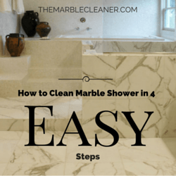 How to clean marble shower in 4 easy steps the marble for How to clean a marble shower
